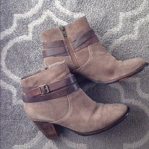 Taupe and Brown Booties